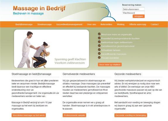 website massage in bedrijf