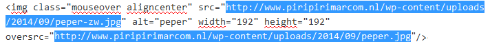 mouseover andere afbeelding wordpress plugin